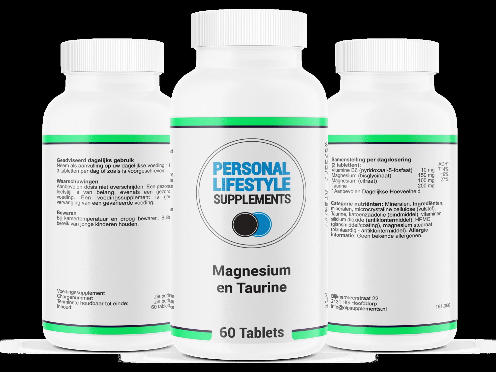 Magnesium-citraat-en-taurine-tabletten-pillen-botaanmaak-spierwerking-activeert-natuurlijke-energie-helpt-tegen-vermoeidheid